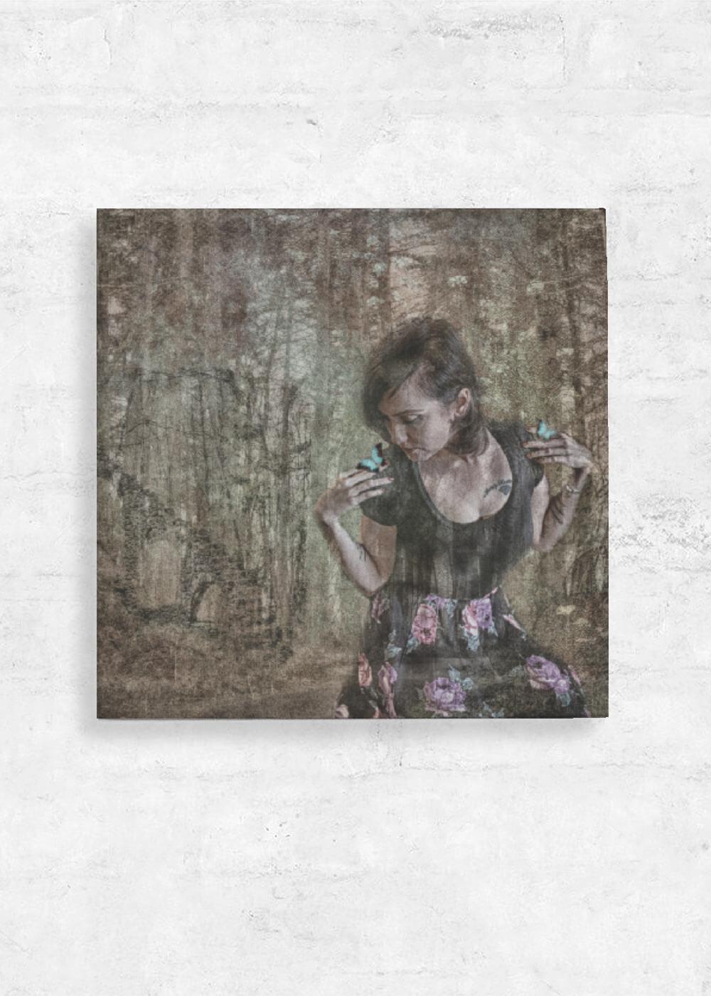 32e36fc7eafa She dreams of butterflies - Wood Wall Art - 12x12 by...