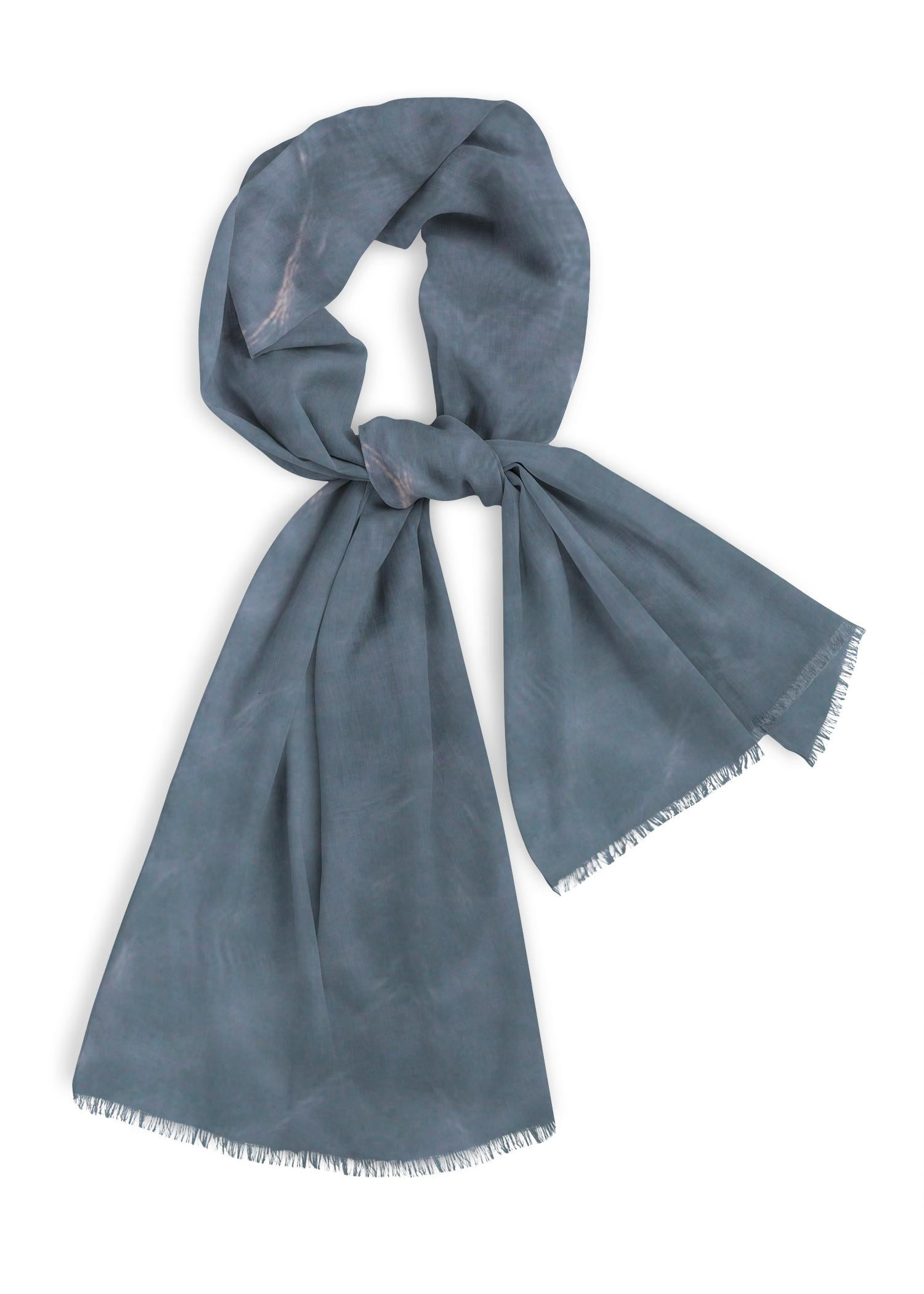 Caribbean Blue Water Natural Cotton Scarf Designed By: Christine Aka Stine1