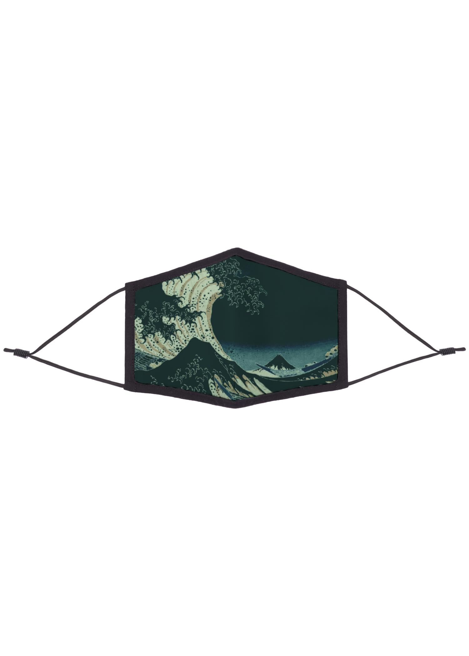Eco REPREVE Mask - Artist Print Artwork:  Great Wave At Night Designed By: Christine Aka Stine1